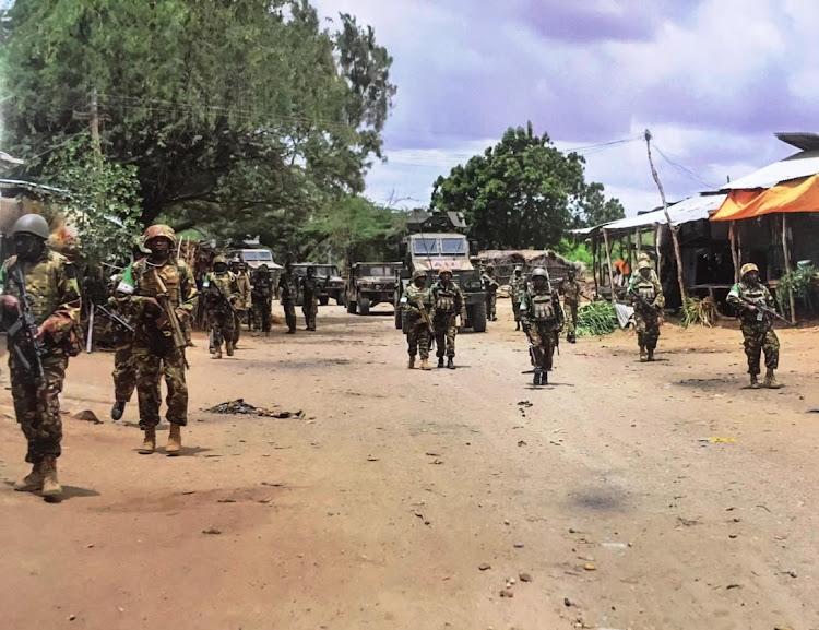 KDF soldier on a patrol in Somalia