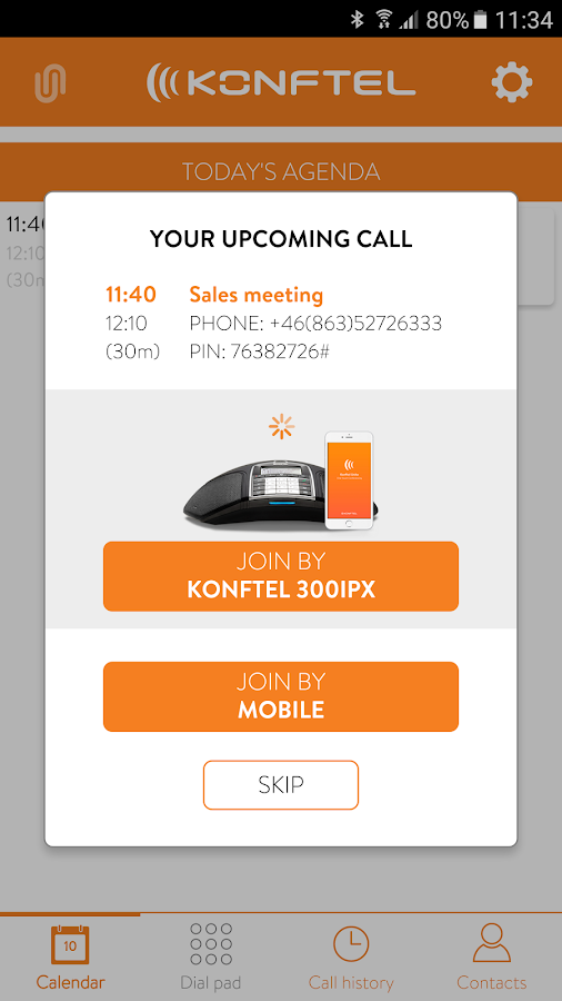 Konftel Unite- screenshot