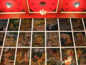 Photo: mural paintings of scenes from Buddha's life, Wat Si Thep