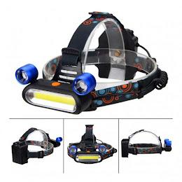 Lanterna de cap reglabila, 3 LED, 3 moduri de lumini