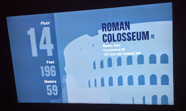 Photo: As you go up the elevator in the Sears Tower, they show you as you pass other landmarks. At the 14th floor, we were passing the Roman Colosseum