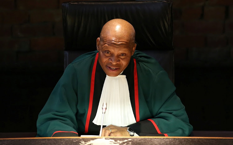 Chief Justice Mogoeng Mogoeng at the Constitutional Court in Johannesburg. Picture: REUTERS
