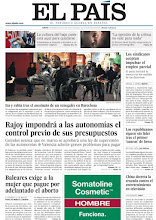 Photo: Rajoy impone el control previo de presupuestos autonómicos y Baleares hace pagar por adelantado el aborto, los temas de nuestra portada http://www.elpais.com/static/misc/portada20120105.pdf