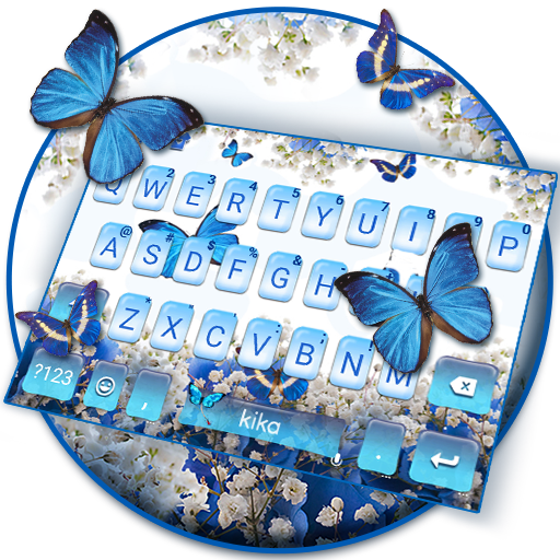 Spring Blue Butterfly Keyboard Theme Icon