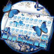 Spring Blue Butterfly Keyboard Theme