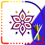 Mandala Coloring pages : Coloring Book for kids Icon