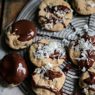 Chocolate Chip Coconut Peanut Butter Cookies