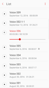 Samsung Voice Recorder- screenshot thumbnail