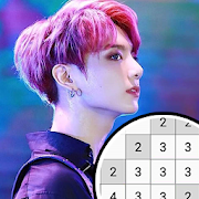 BTS Pixel Art Free Color By Number Coloring Book