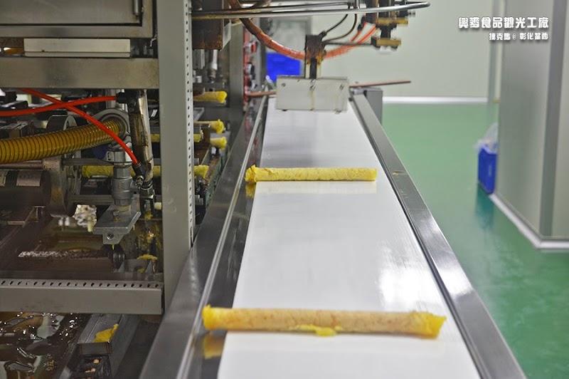 興麥觀光工廠蛋捲製程