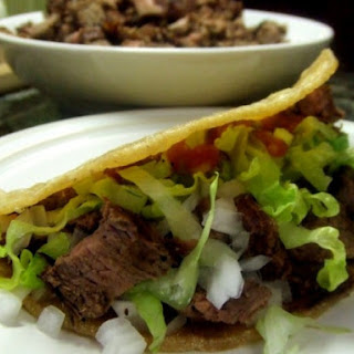 Mexican Flank Steak Tacos.
