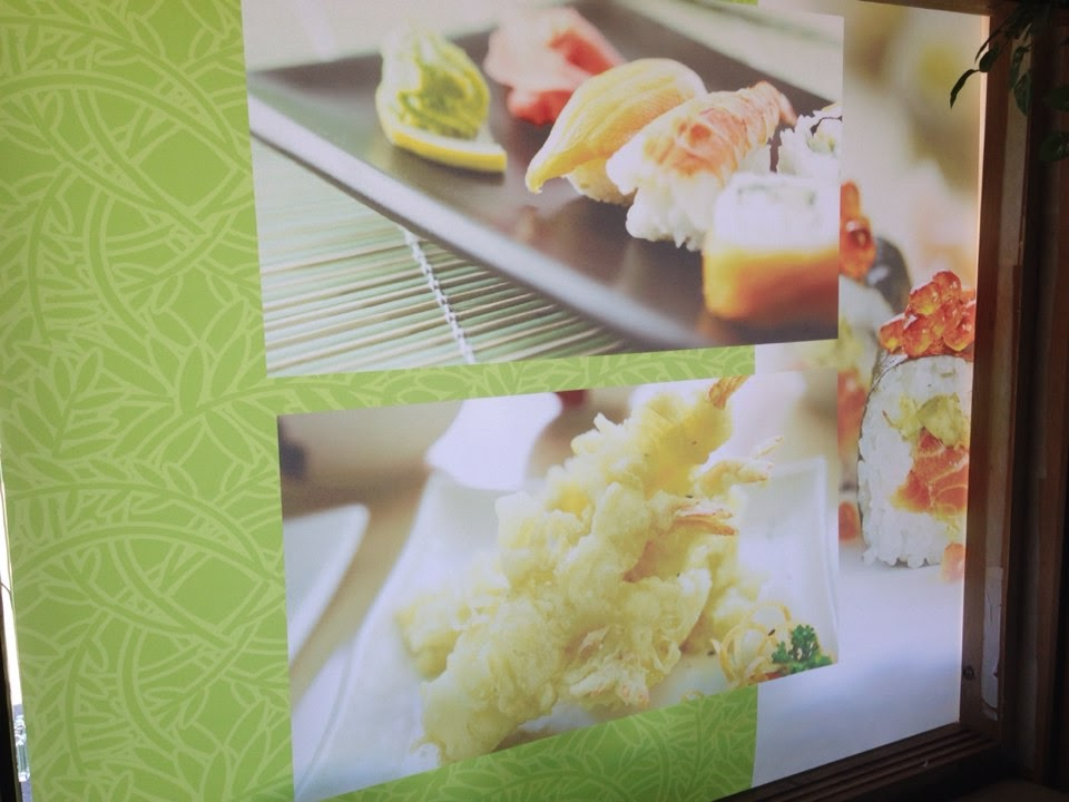 close up of sushi print