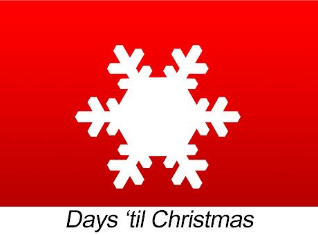 Days 'til Christmas - Countdown