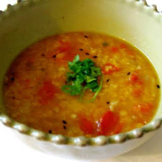 Spicy Red Lentil Soup With Magic Potion.