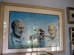 Photo: Hemingway and Gregorio Fuentest was reportedly the prototype of the fisherman in the famous Heminway's novel The Old Man  and the Sea