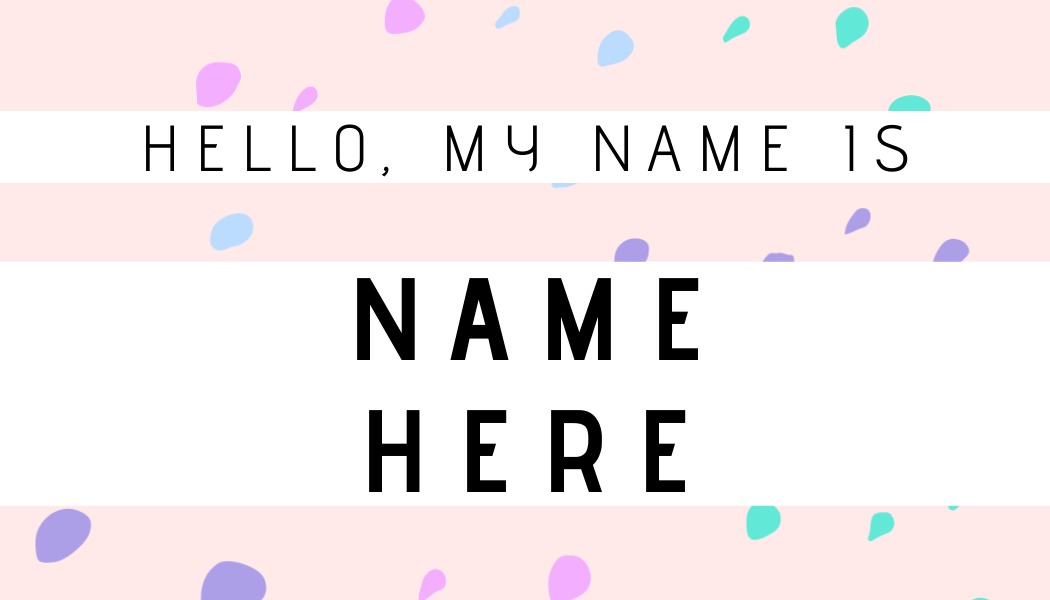 name tag template with dots
