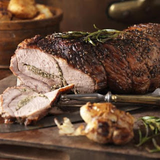 A Great Take on Roast Lamb - Stuffed with Garlic, Parsley and Bacon