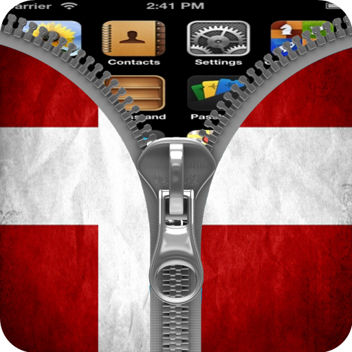 Denmark Flag Zipper Screenlock