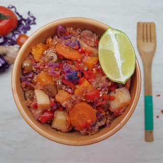 Low FODMAP Vegetarian Quinoa & Vegetable Stew (Video) Recipe