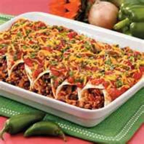 Black Beans And Beef Enchiladas