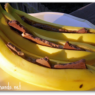 Grilled Bananas with Milk Chocolate Recipe