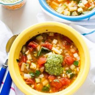 Panera Garden Vegetable Soup with Pesto.