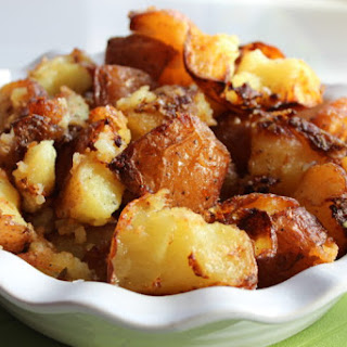 Roast Potatoes with Garlic, Herbs and Parmesan Recipe