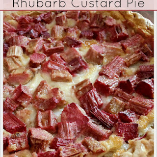 Rhubarb Custard Dessert Pie Recipes