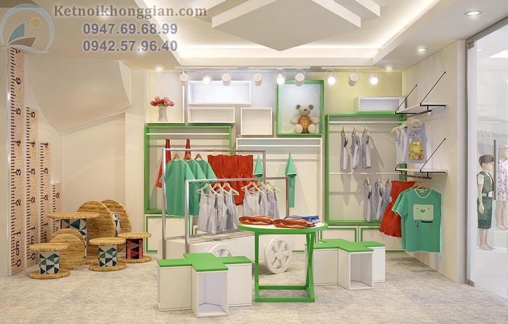 thiết kế shop thời trang trẻ em đẳng cấp và lạ mắt