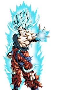 Goku modrá tapeta HD - náhled