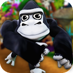 Cartoon Monkey Runner Icon
