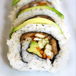 Pom Pom Mushrooms Sushi Rolls.