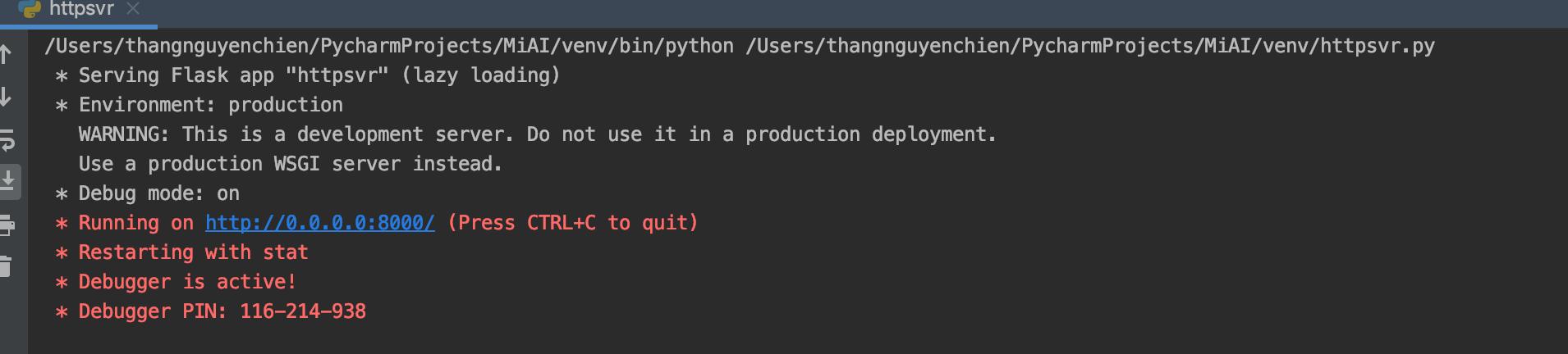 flask server python