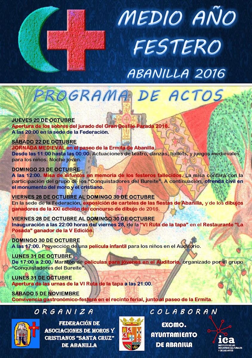 Programa de actos del medio año festero 2017