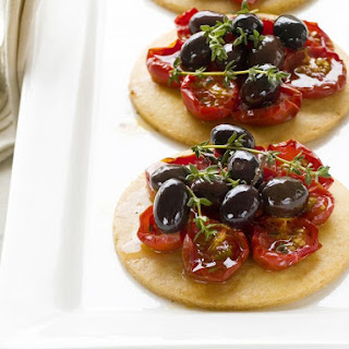 Parmesan, Tomato and Olive Tarts