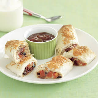 Cheese and Tomato Phyllo Rolls.
