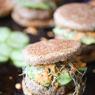Asian Turkey Burgers with Spicy Peanut Sauce