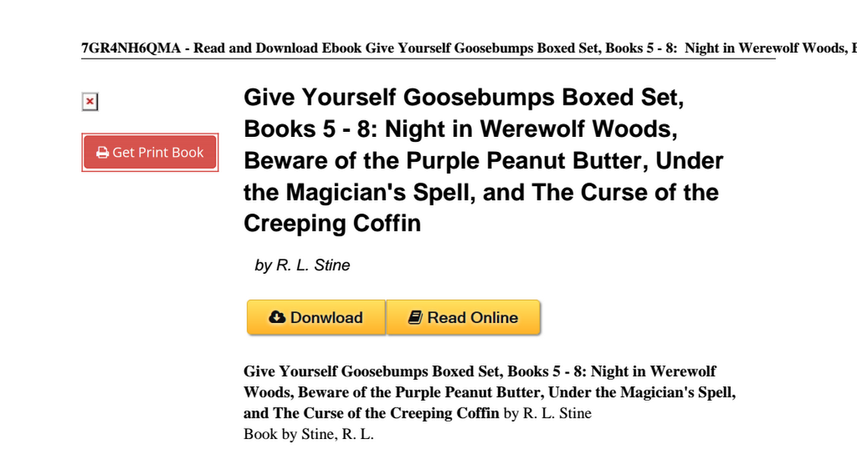 Give yourself goosebumps boxed books 0590926284pdf google drive solutioingenieria Image collections