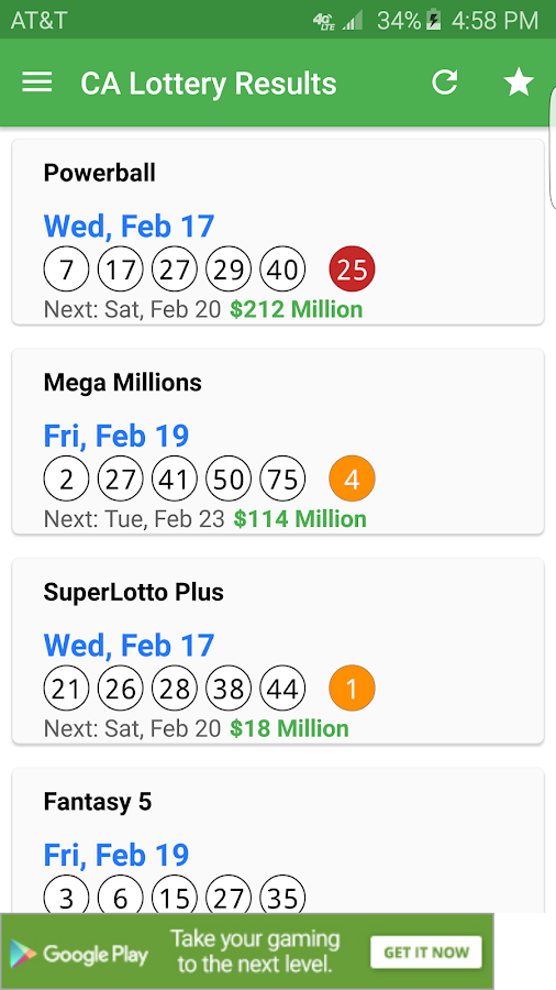 Ca Lottery Results
