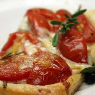 Tomato Spinach and Rosemary Tart.