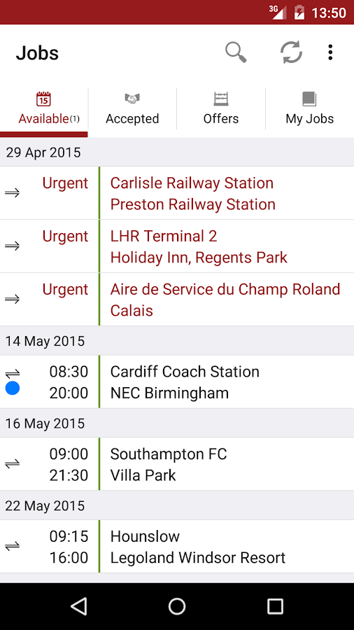 Coach Hire Exchange- screenshot