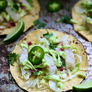 Grilled Fish Tacos with Jalapeño Lime Cream