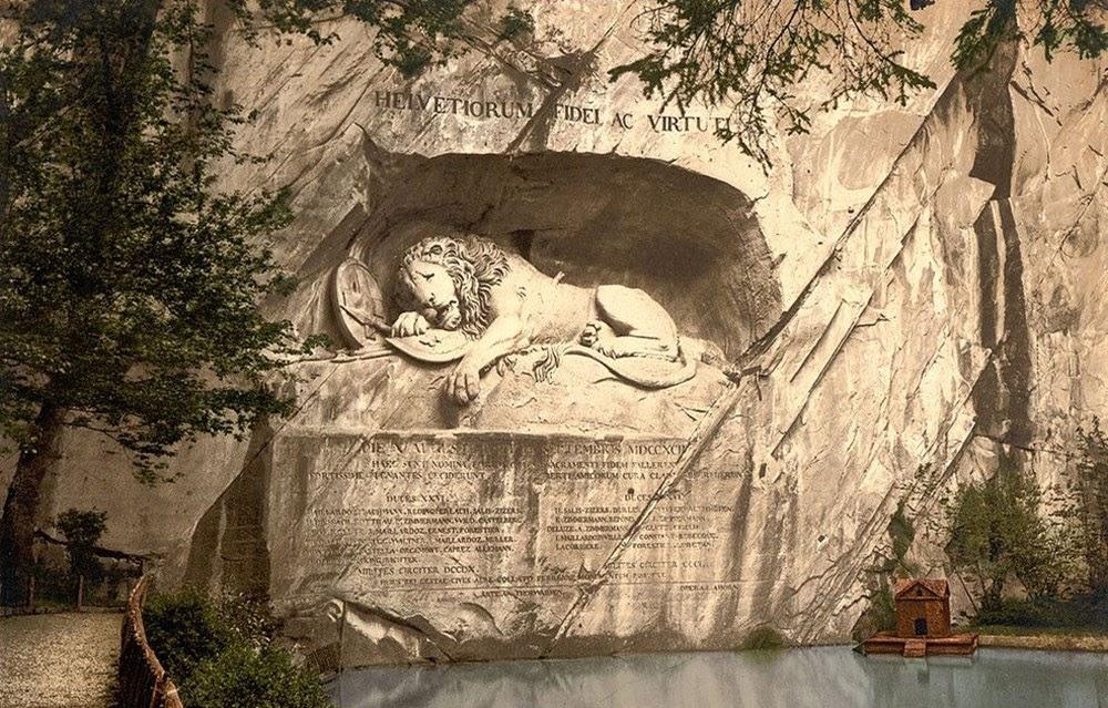 A agonia eterna do Leão de Lucerna