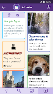 Notes with pictures - easy notepad with images