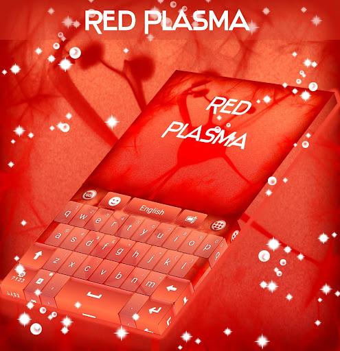 紅色的等離子鍵盤