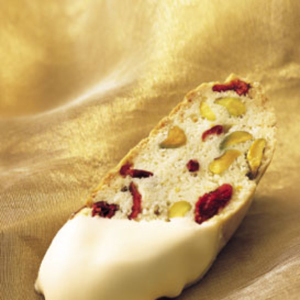 Cranberry And Pistachio Biscotti Dipped In White Chocolate Recipes ...