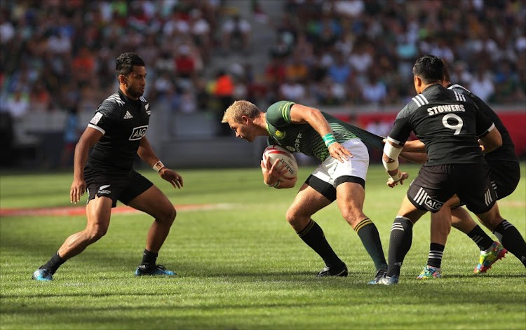 Philip Snyman of South Africa during the match between South Africa and New Zealand during day 2 of the HSBC Cape Town Sevens at Cape Town Stadium on December 11, 2016 in Cape Town, South Africa.