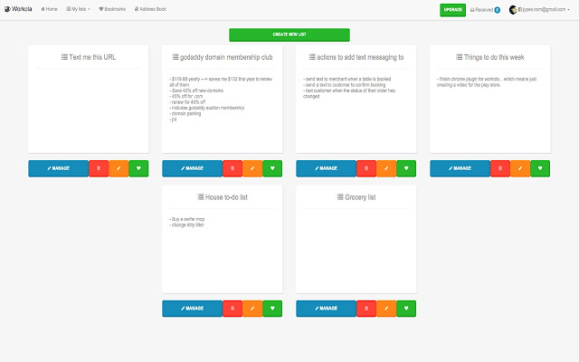 Workola - Share notes with text message