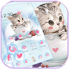 Fofa gatinha Tema wallpaper Cute Kitty lovely