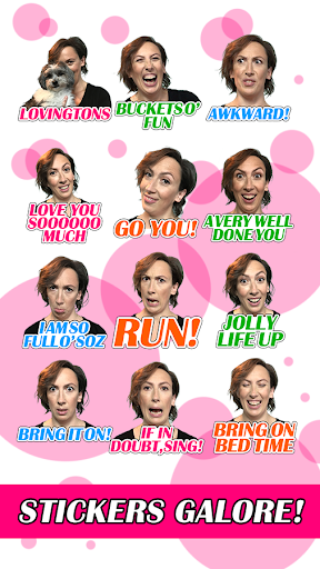 Screenshot for Miranda Hart Stickers in Hong Kong Play Store